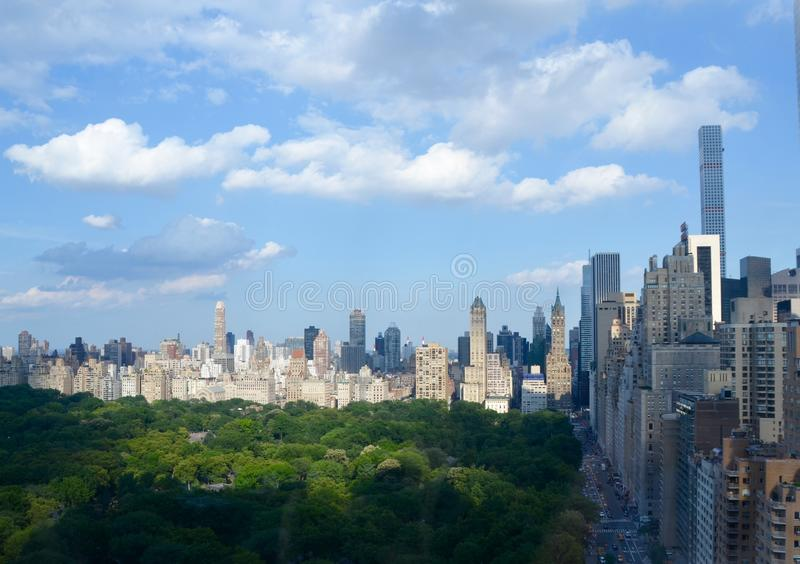 Manhattan, NYC. New York cityscape at Columbus Circle in Manhattan, NYC. USA royalty free stock photography