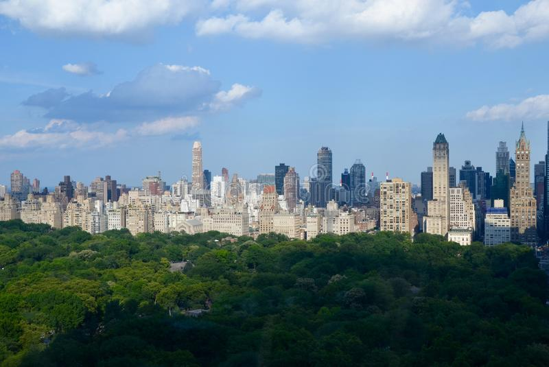 Manhattan, NYC. New York cityscape at Columbus Circle in Manhattan, NYC. USA royalty free stock photos