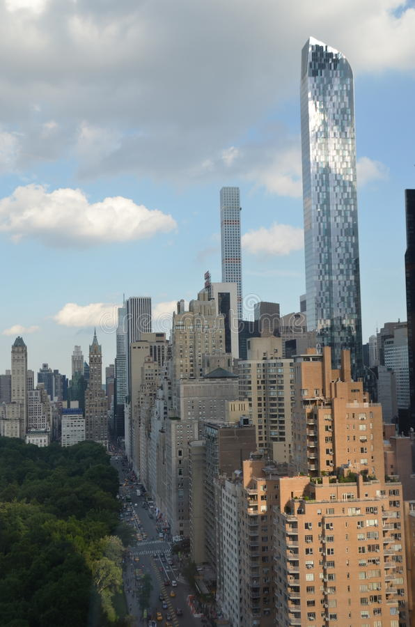 Manhattan, NYC. New York cityscape at Columbus Circle in Manhattan, NYC. USA royalty free stock image