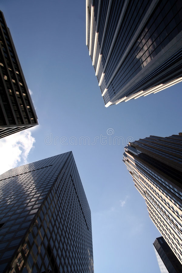 Manhattan Office Buildings royalty free stock photo