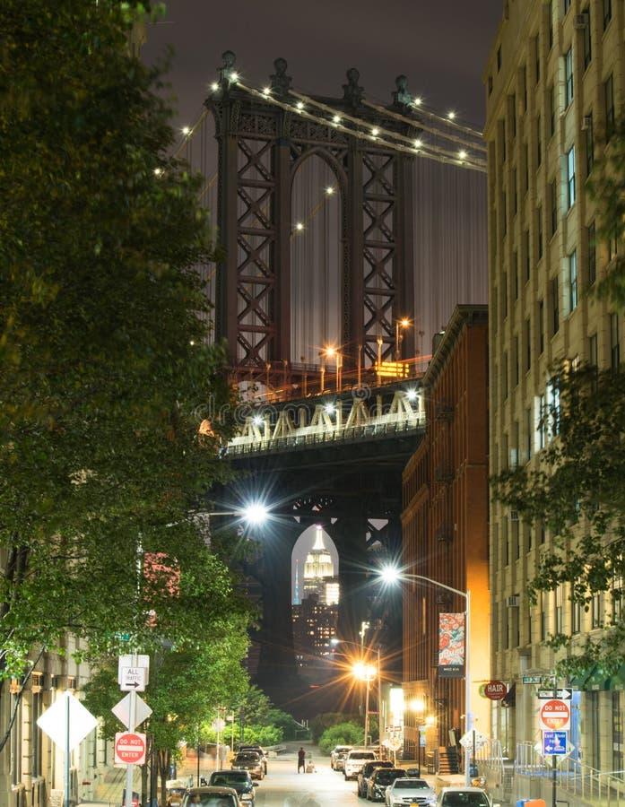Manhattan over het Imperium stock afbeelding