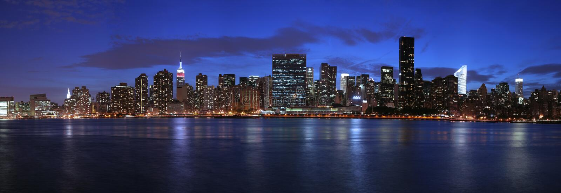 Manhattan panorâmico imagens de stock royalty free