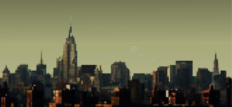 Download Manhattan Panorama stock vector. Image of manhattan, skyscraper - 11454215