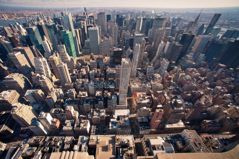 Download Manhattan panorama w NYC obraz stock. Obraz złożonej z sławny - 32537493