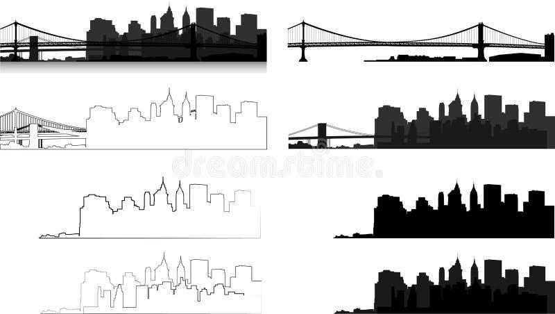 Manhattan-Panoramateil lizenzfreies stockbild