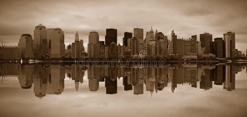 Manhattan panoramico immagini stock