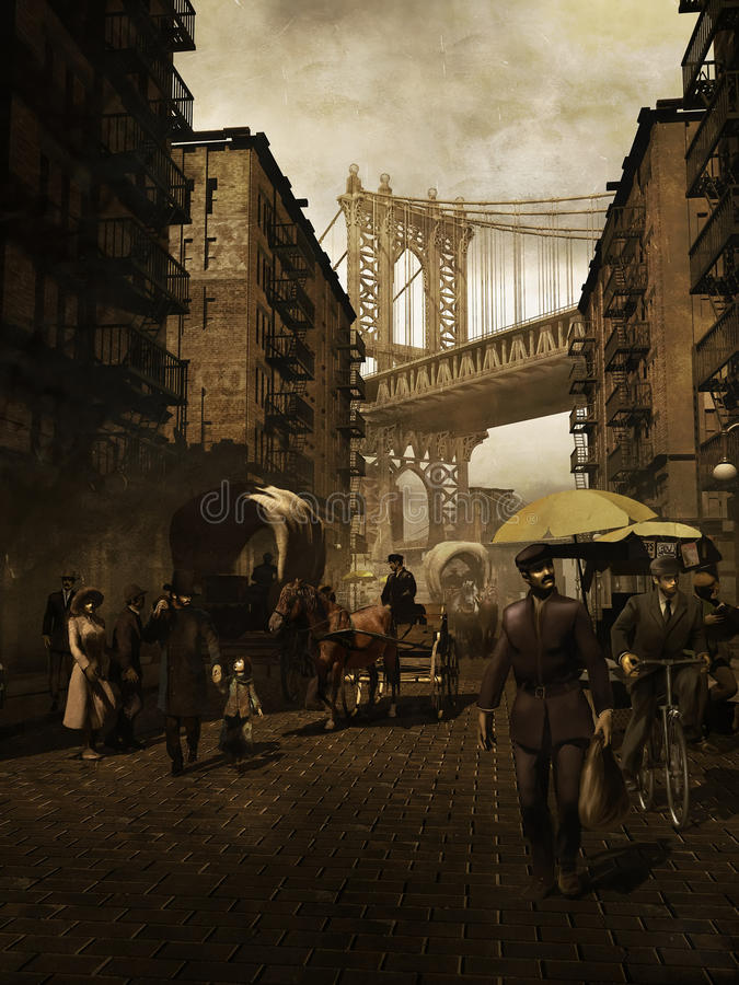 Manhattan retro stock illustration