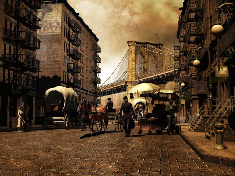 Manhattan retro royalty free illustration