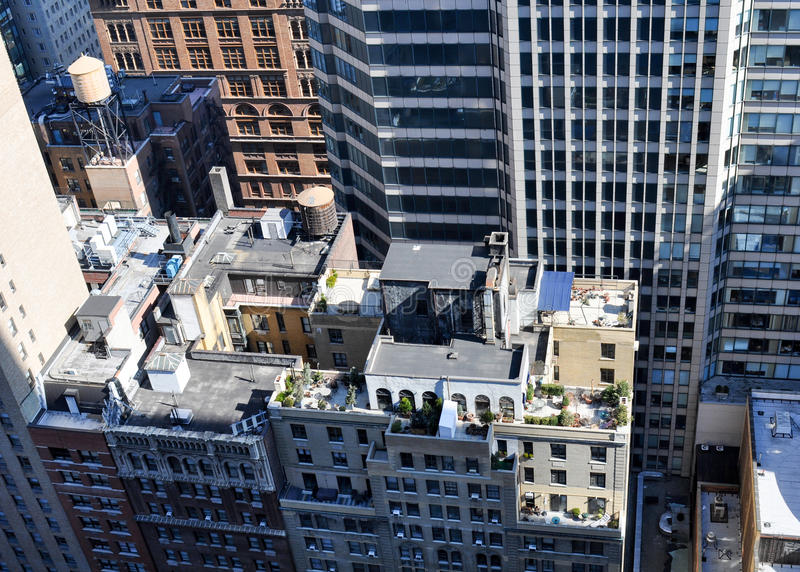 Manhattan Rooftop royalty free stock images