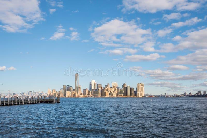Manhattan scene ,New York city royalty free stock photography