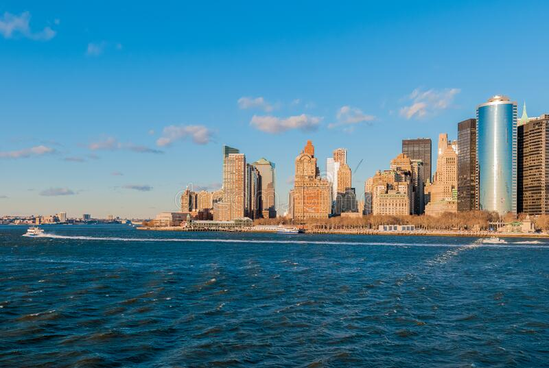 Manhattan Shore in New York, United States stock photos
