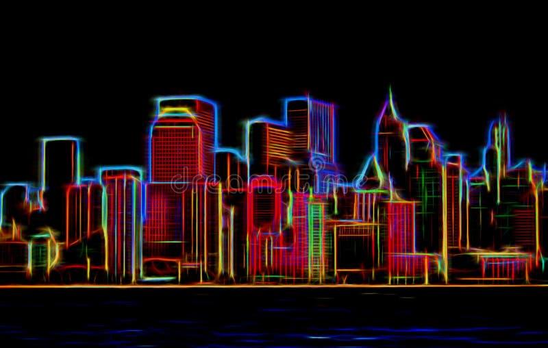 Manhattan-sklyline lizenzfreies stockfoto