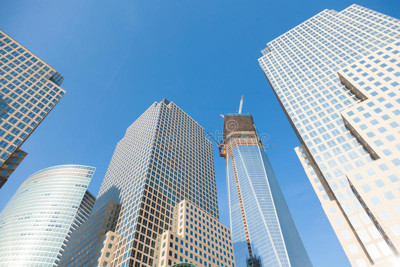 Manhattan skycrapers, New York arkivbilder