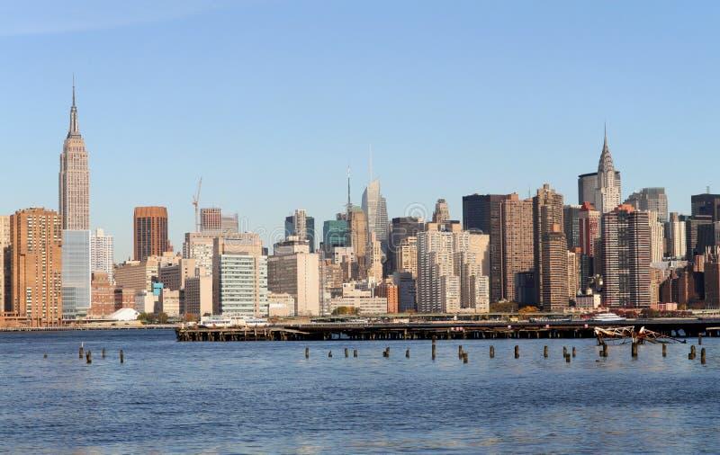 Manhattan-Skyline stockbild