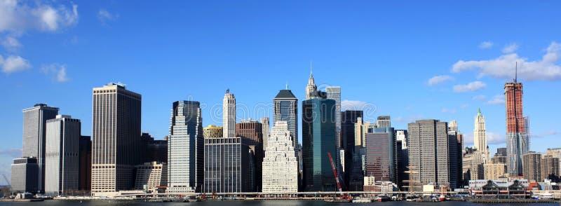 Manhattan skyline stock image