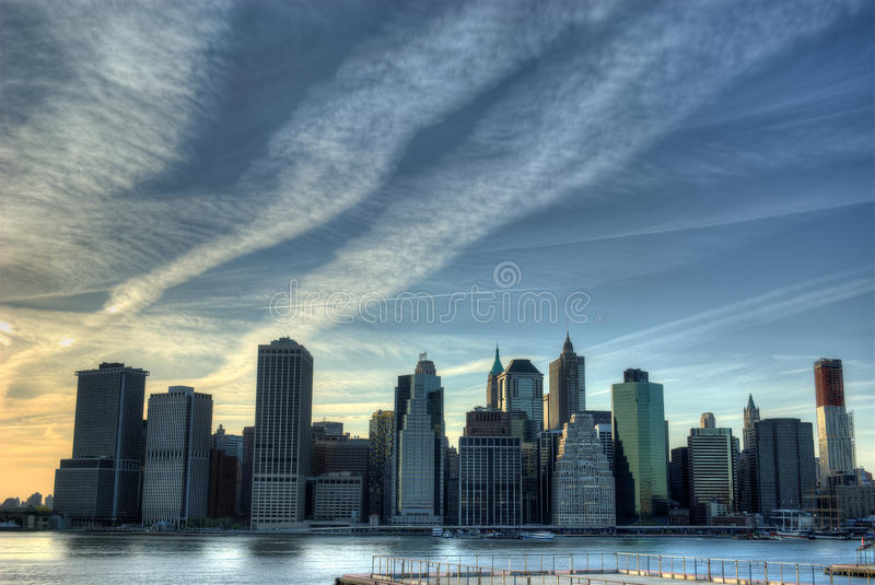 Download Manhattan Skyline stock photo. Image of dynamic, architectural - 14069364
