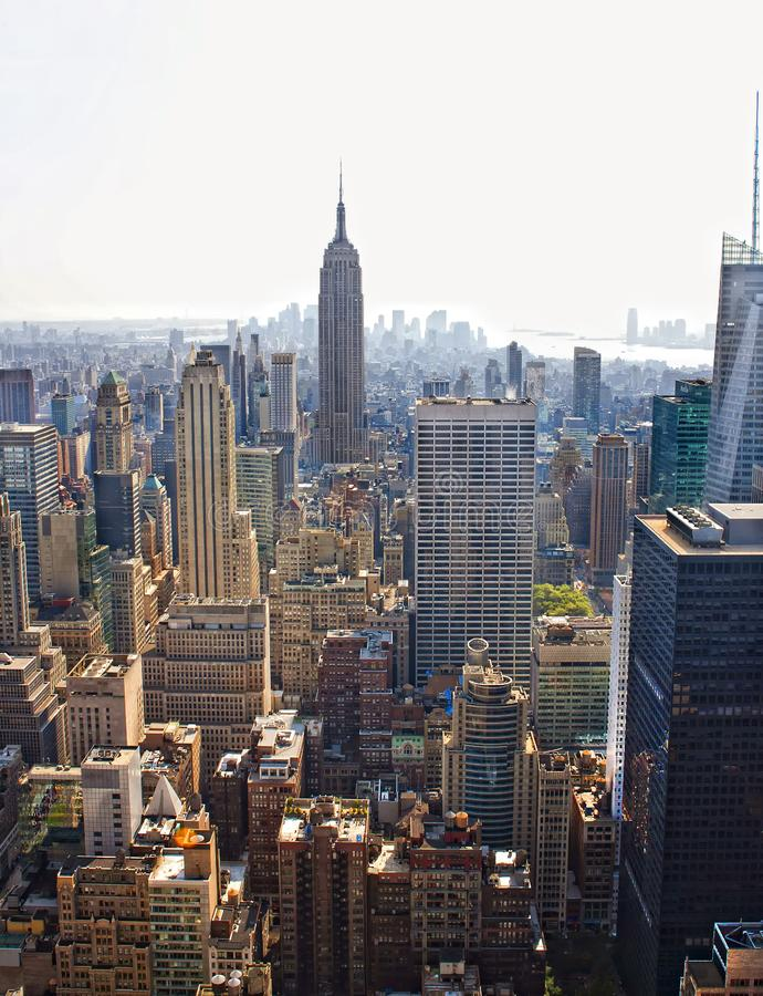 Download Manhattan skyline stock image. Image of building, business - 18731307