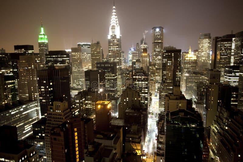 Manhattan skyline. Skycrapers and towers in manhattan skyline view royalty free stock image