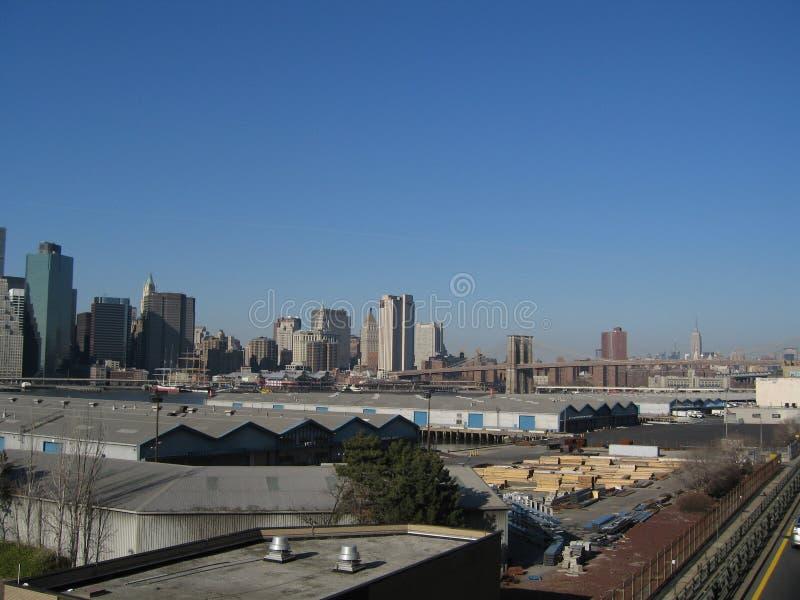 Manhattan skyline stock images