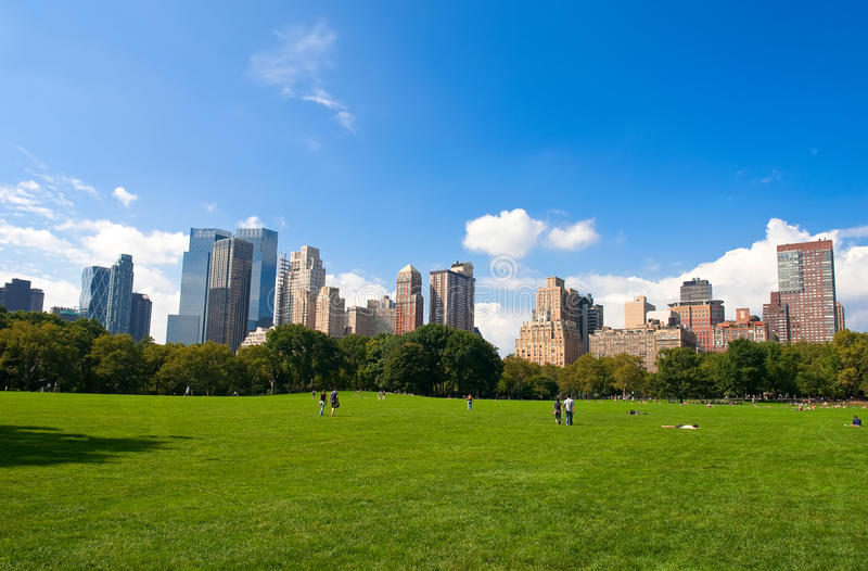 Download Manhattan Skyline From The Central Park Stock Image - Image: 10914957