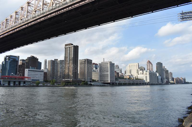 Manhattan, Skyline at the East River -01 royalty free stock photo