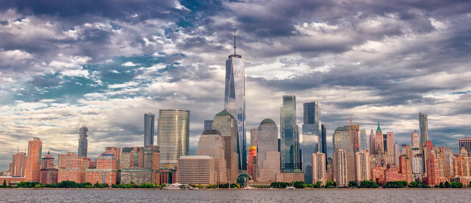 Manhattan skyline . New York City royalty free stock image