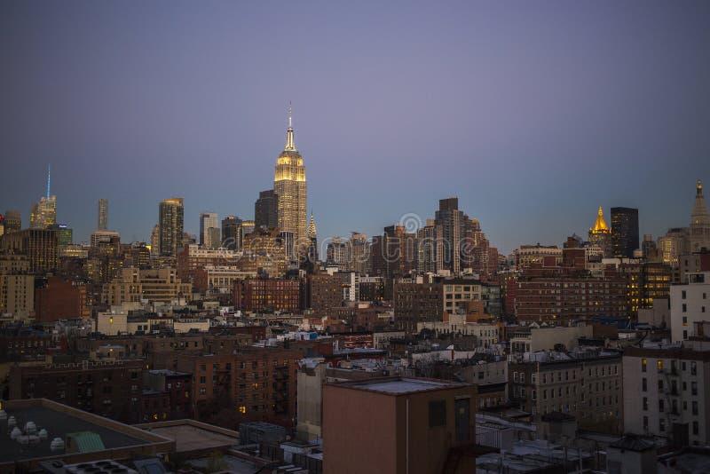 Manhattan Skyline, New York City royalty free stock image