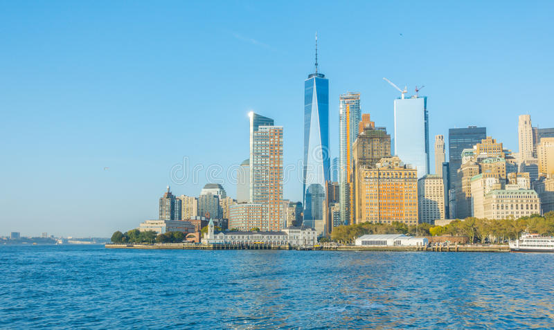 Manhattan-Skyline, New York City USA lizenzfreies stockbild