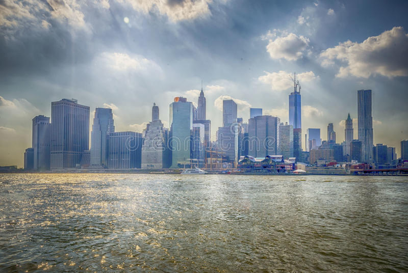 Download Manhattan Skyline stock image. Image of metropolitan - 33042835