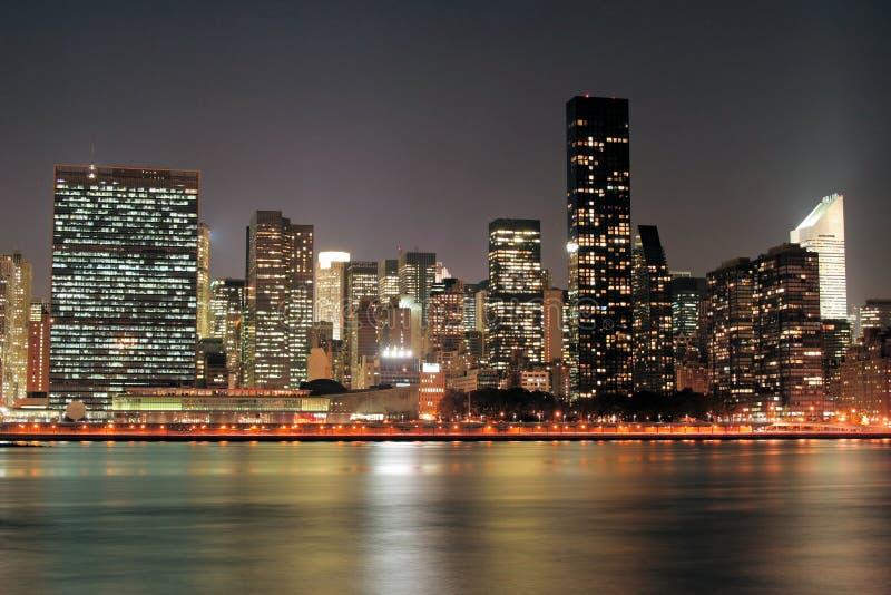 Download Manhattan skyline at Night stock photo. Image of brooklyn - 1720980