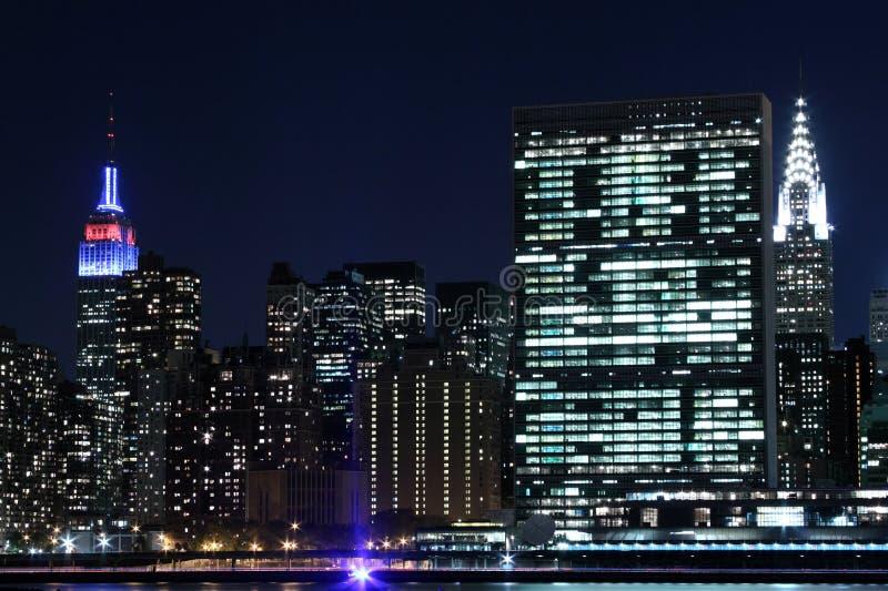 Download Manhattan Skyline At Night, New York City Stock Image - Image: 28248627
