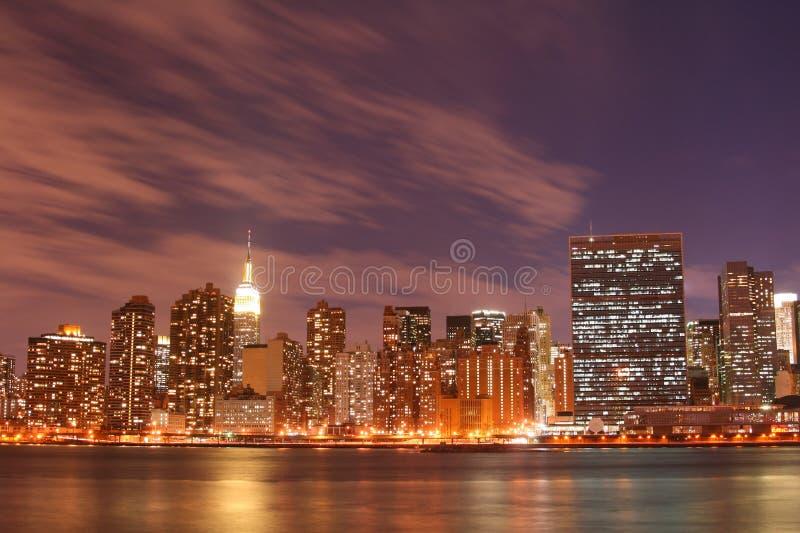 Download Manhattan Skyline At Nights Stock Photo - Image: 2290188
