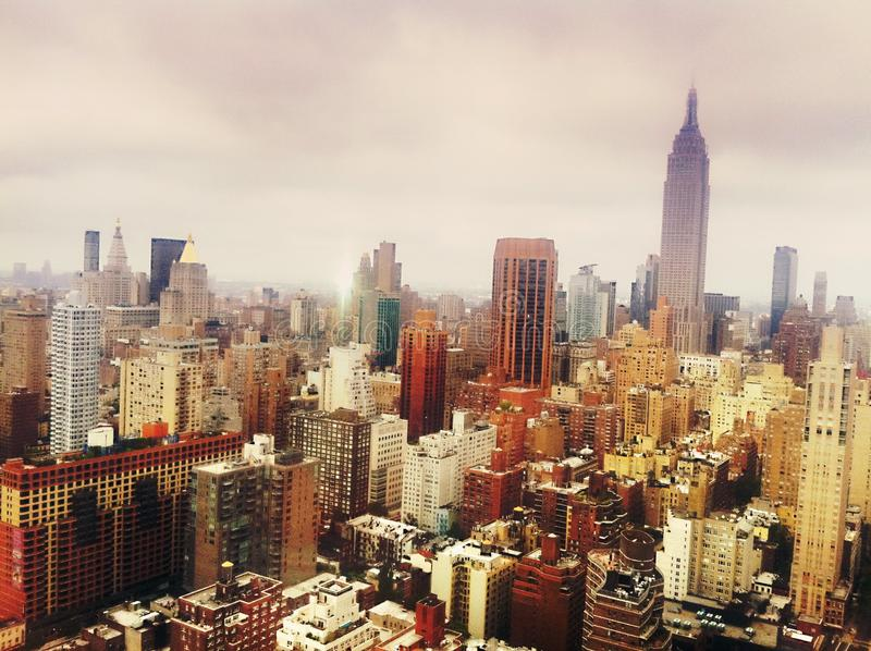 Manhattan-Skyline, NYC stockbild