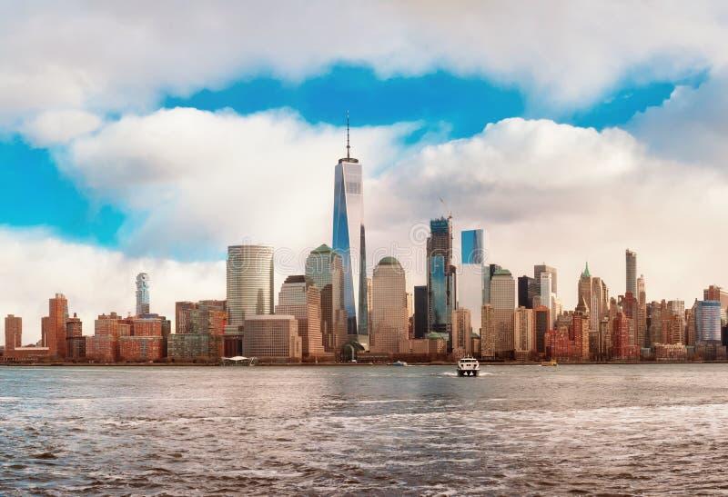 Manhattan skyline panorama , New York City stock photography