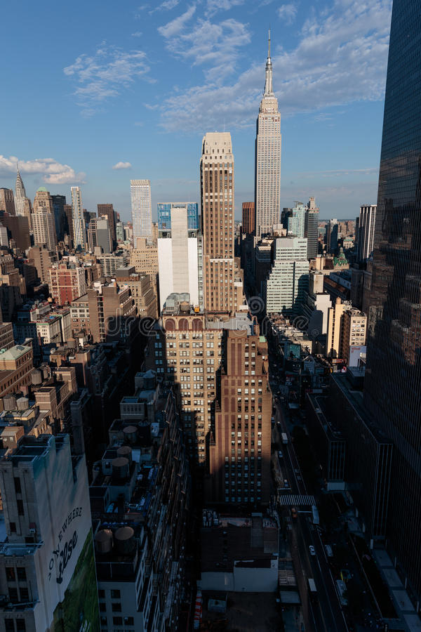 Manhattan-Skyline vom New- Yorkerhotel, Manhattan lizenzfreies stockbild