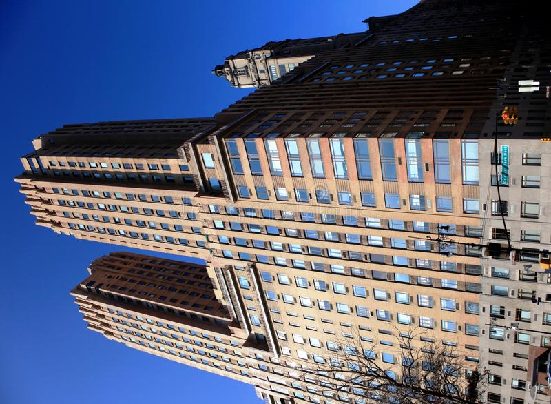 Manhattan skyscrapers royalty free stock photography