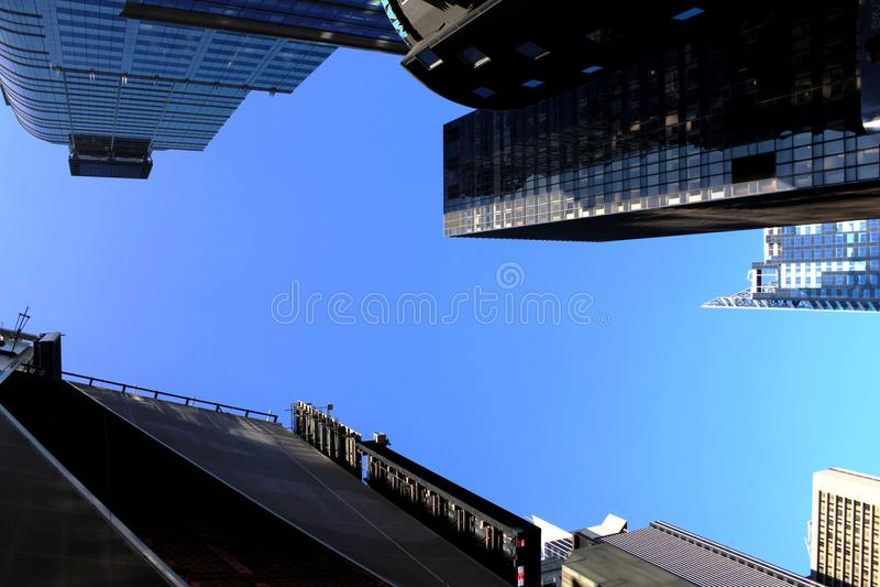 Manhattan skyscrapers stock image