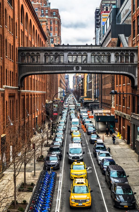 Manhattan Skyway royalty-vrije stock foto