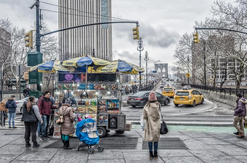 Manhattan, St do centro fotos de stock royalty free