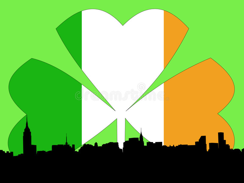 Download Manhattan St Patricks day stock vector. Image of greeting - 1709224