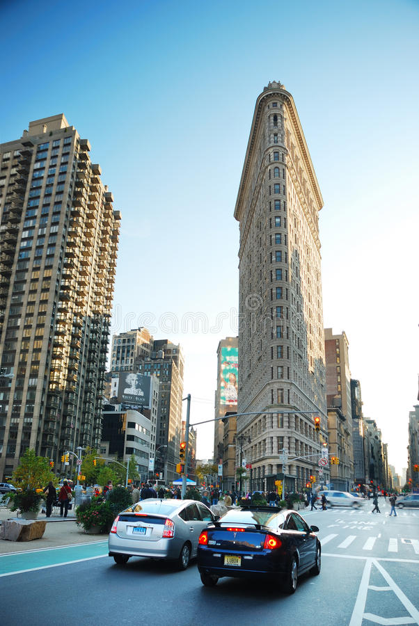 Manhattan Street View, New York City royalty free stock image