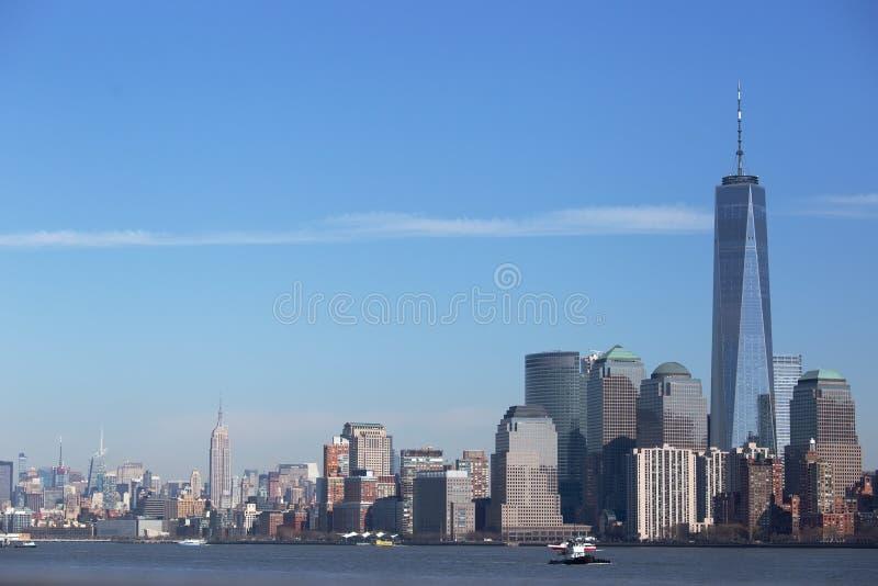 Manhattan, um centro do comércio mundial e estado do império fotos de stock royalty free