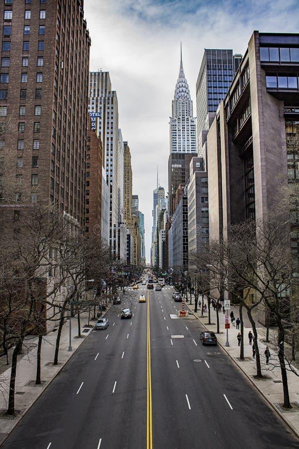 Manhattan van de binnenstad stock foto