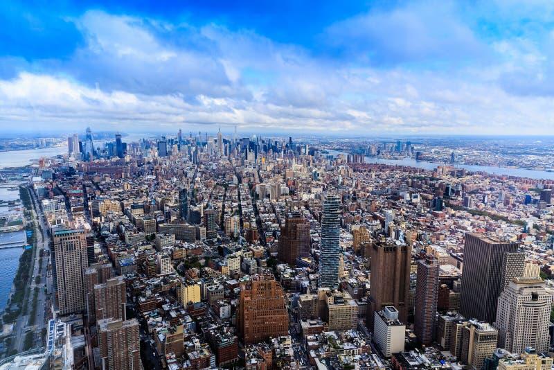 Manhattan van One World-Waarnemingscentrum, de Stad van New York, de V.S. royalty-vrije stock afbeelding