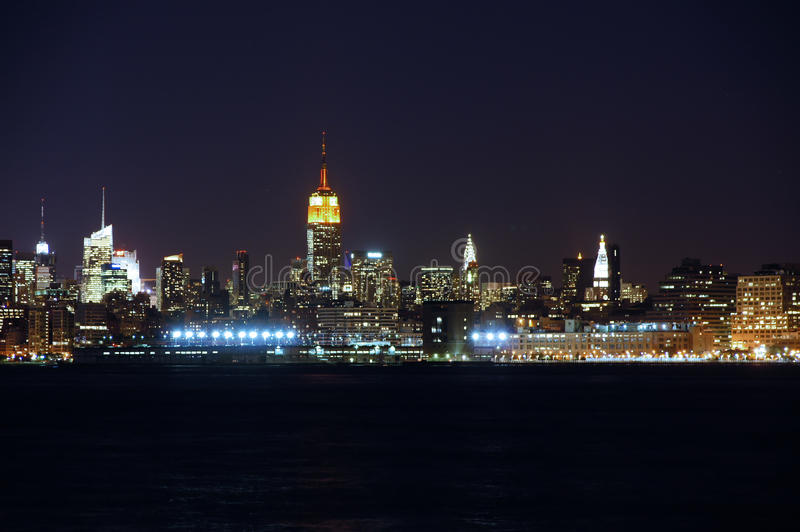 Manhattan View From Jersy City Royalty Free Stock Photos