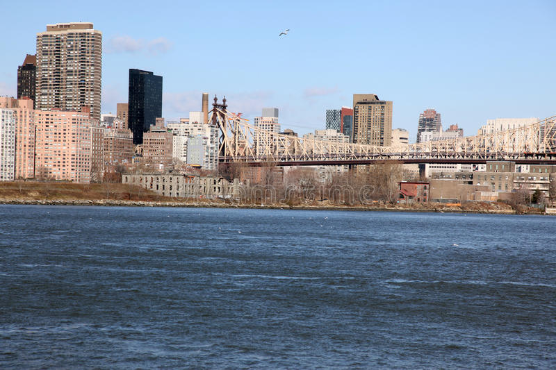 Manhattan, View From Long Island, USA Stock Photography