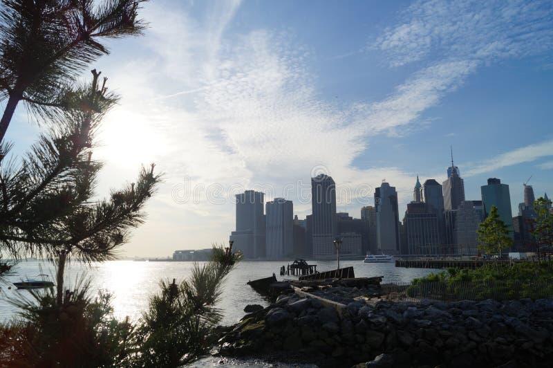 Manhattan view stock photos