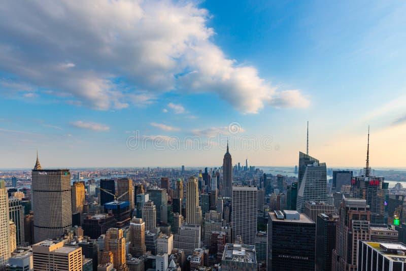 Manhattan - visión desde el top de la roca - centro de Rockefeller - Nueva York fotos de archivo libres de regalías