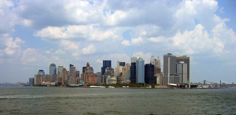 Manhattan vom Staten Island lizenzfreie stockbilder