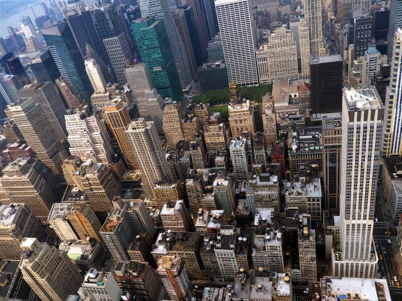 Manhattan von der Oberseite stockfotos